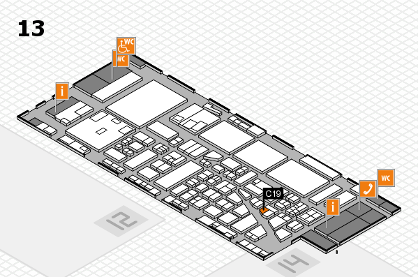 boot 2017 hall map (Hall 13): stand C19