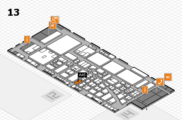boot 2017 hall map (Hall 13): stand A45