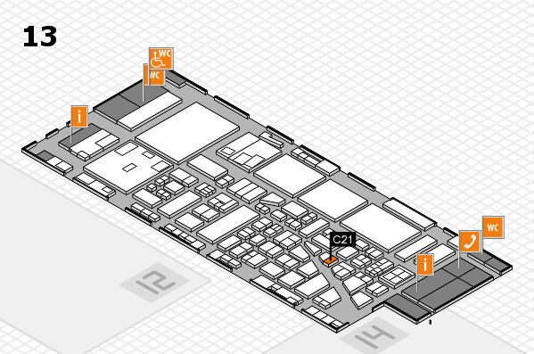 boot 2017 hall map (Hall 13): stand C21