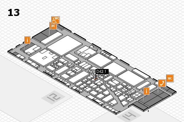 boot 2017 hall map (Hall 13): stand D42.1