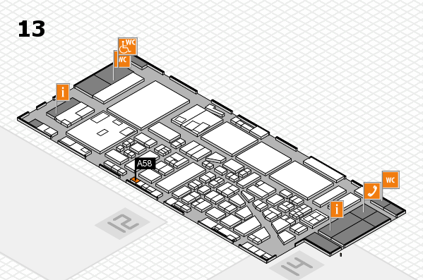 boot 2017 hall map (Hall 13): stand A58