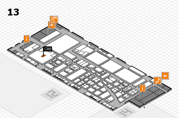 boot 2017 hall map (Hall 13): stand C86