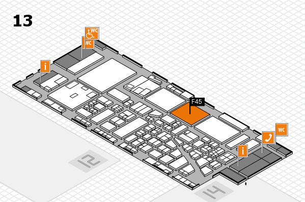 boot 2017 hall map (Hall 13): stand F45