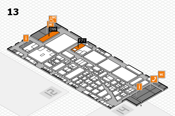 boot 2017 hall map (Hall 13): stand D99, stand F71