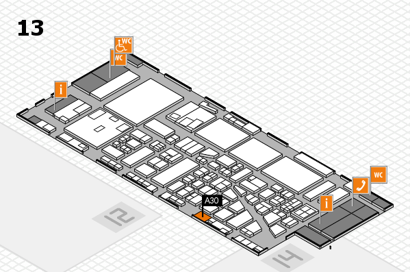 boot 2017 hall map (Hall 13): stand A30