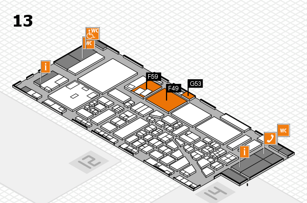 boot 2017 hall map (Hall 13): stand F49, stand G53