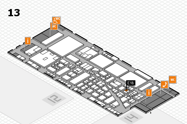 boot 2017 hall map (Hall 13): stand E18