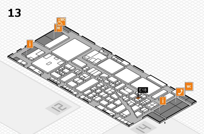 boot 2017 Hallenplan (Halle 13): Stand E18