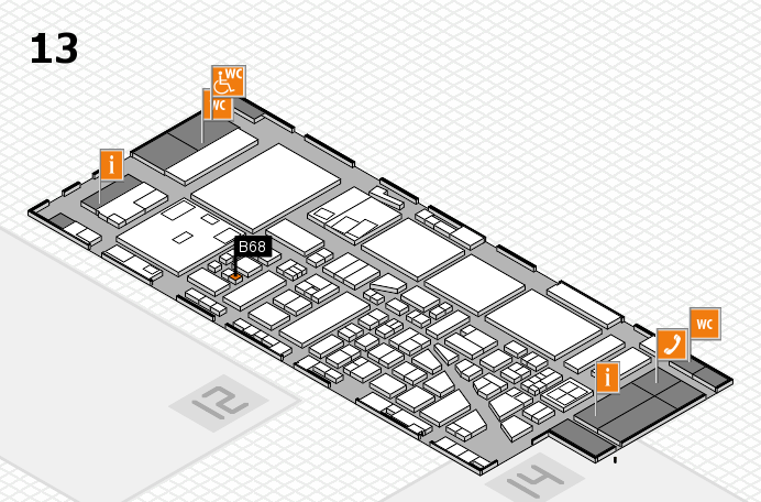 boot 2017 hall map (Hall 13): stand B68