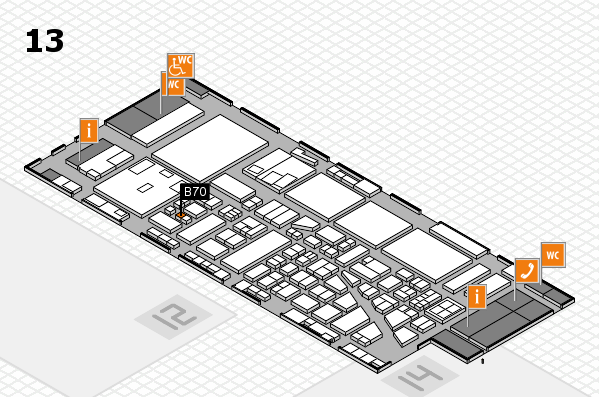 boot 2017 hall map (Hall 13): stand B70