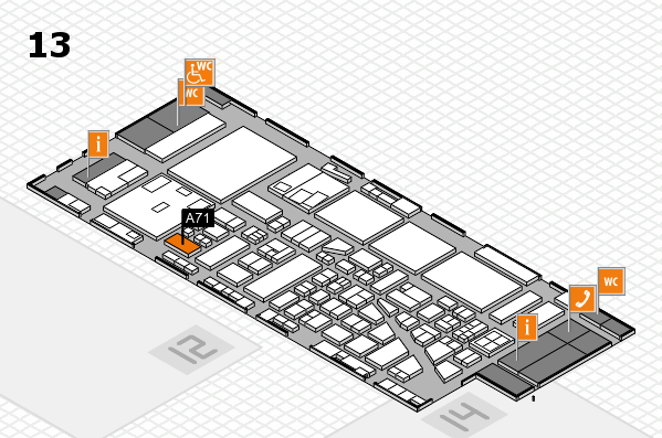 boot 2017 hall map (Hall 13): stand A71