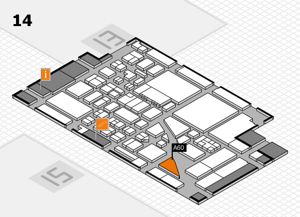 boot 2017 hall map (Hall 14): stand A60