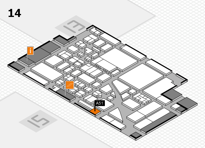 boot 2017 hall map (Hall 14): stand A51