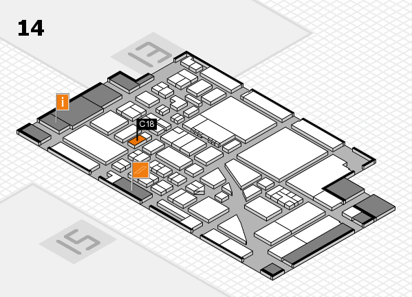 boot 2017 hall map (Hall 14): stand C18