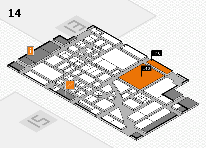 boot 2017 hall map (Hall 14): stand E40, stand H40