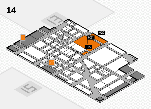boot 2017 hall map (Hall 14): stand E35, stand H22