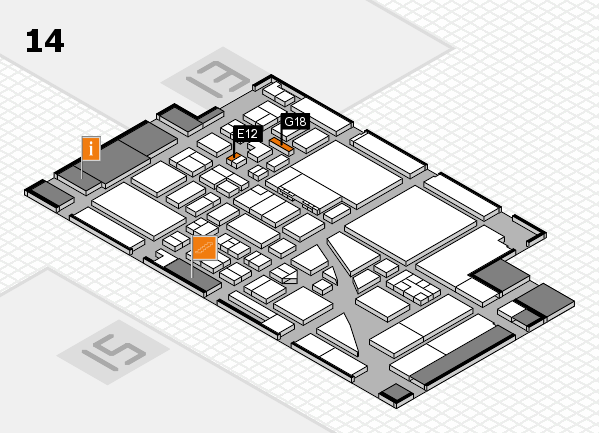 boot 2017 hall map (Hall 14): stand E12, stand G18