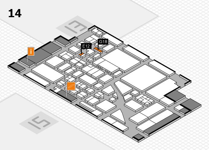 boot 2017 hall map (Hall 14): stand E12, stand G18