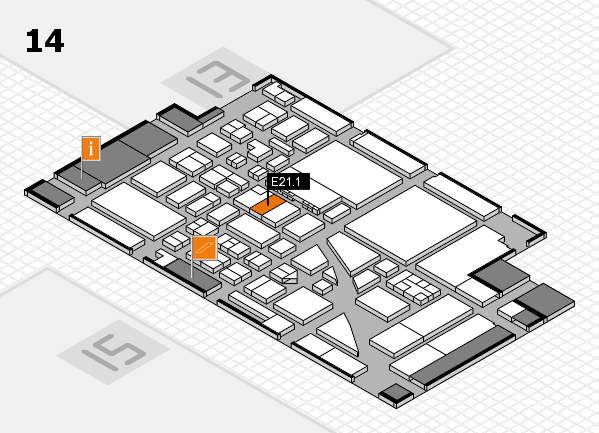 boot 2017 hall map (Hall 14): stand E21.1