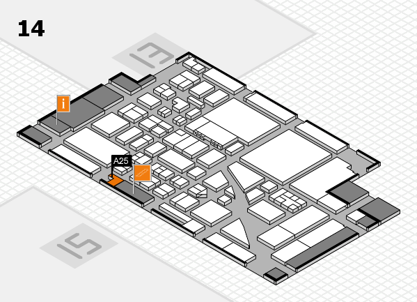 boot 2017 hall map (Hall 14): stand A25