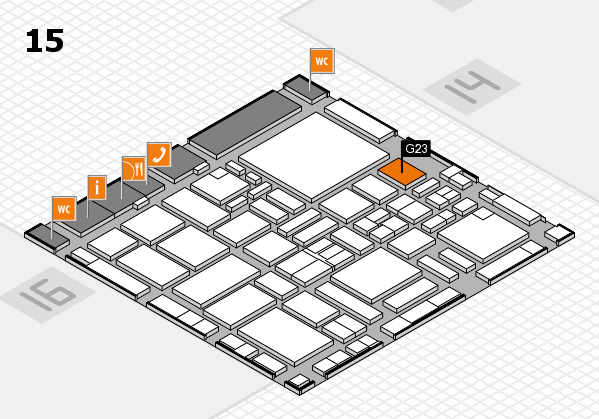boot 2017 hall map (Hall 15): stand G23