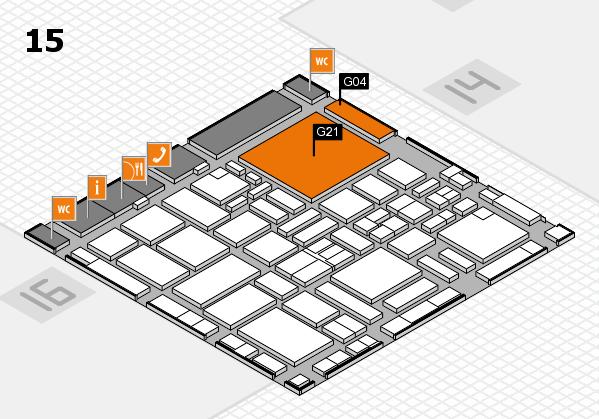 boot 2017 hall map (Hall 15): stand G04, stand G21