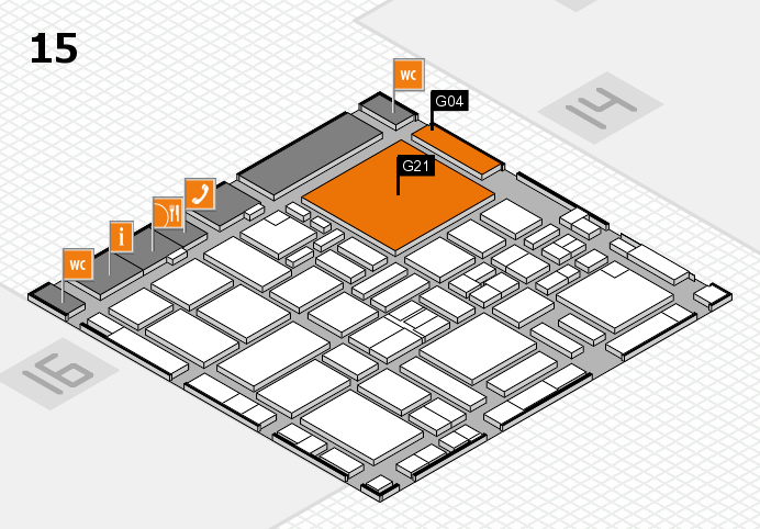 boot 2017 hall map (Hall 15): stand G04, stand G21