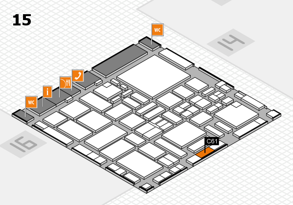 boot 2017 hall map (Hall 15): stand C61