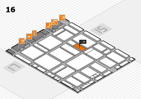 boot 2017 hall map (Hall 16): stand C38