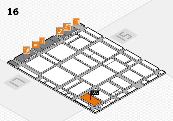 boot 2017 hall map (Hall 16): stand A58