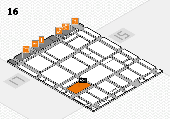 boot 2017 hall map (Hall 16): stand A54