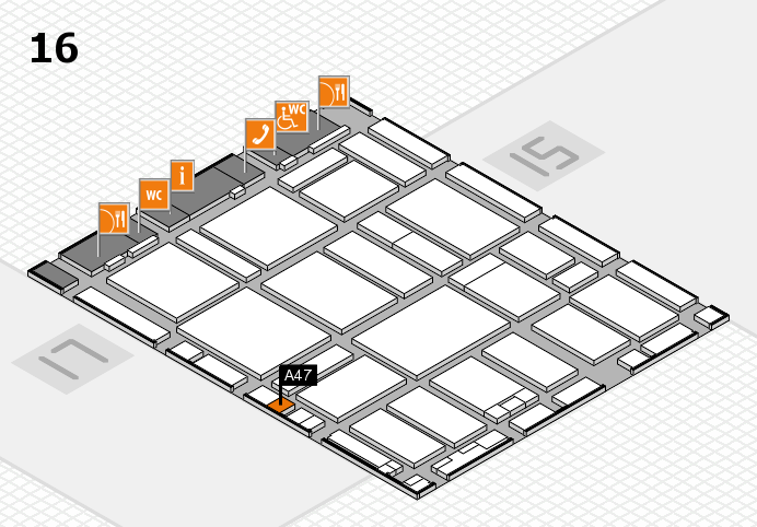 boot 2017 hall map (Hall 16): stand A47