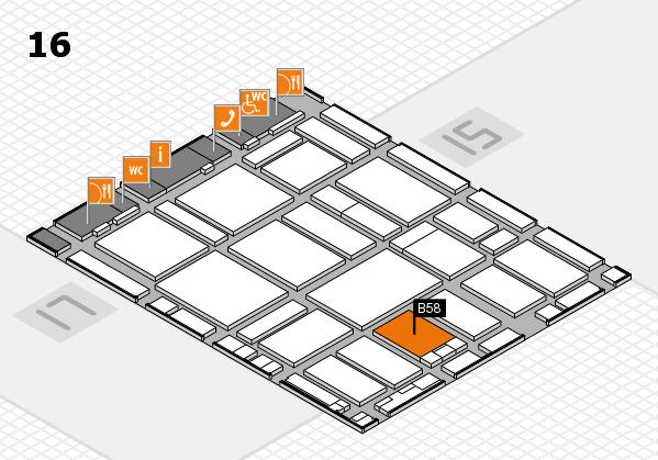 boot 2017 hall map (Hall 16): stand B58
