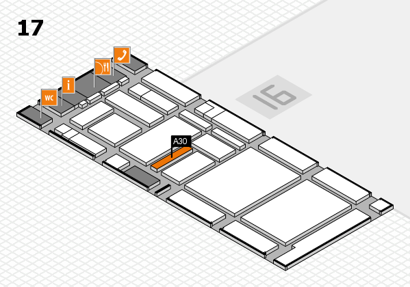 boot 2017 hall map (Hall 17): stand A30