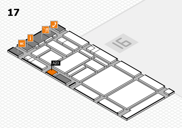 boot 2017 hall map (Hall 17): stand A23