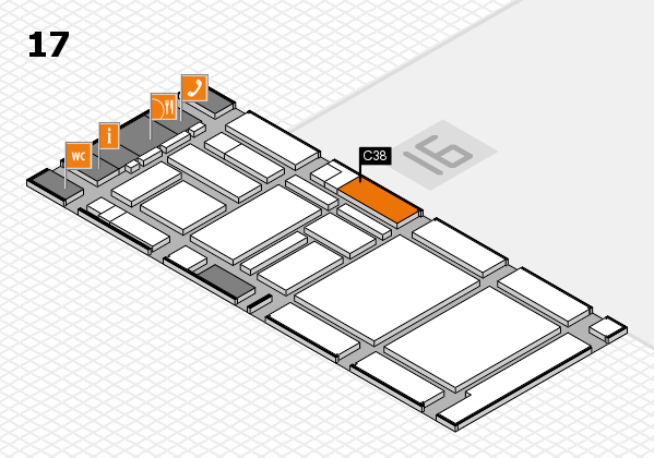 boot 2017 hall map (Hall 17): stand C38
