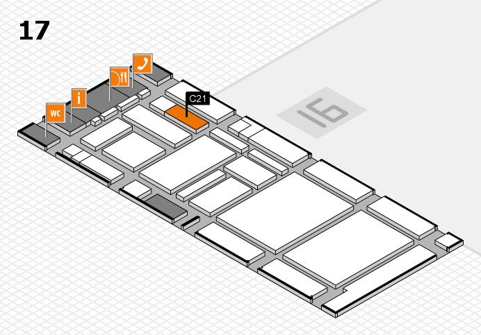 boot 2017 hall map (Hall 17): stand C21