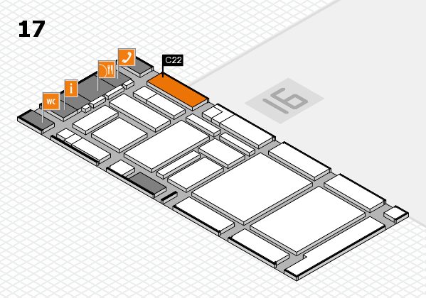boot 2017 hall map (Hall 17): stand C22