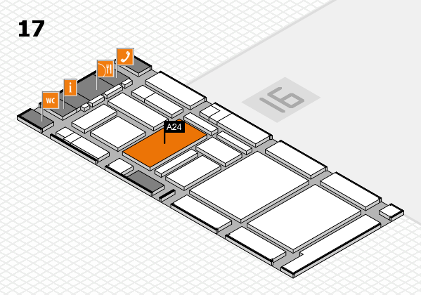 boot 2017 hall map (Hall 17): stand A24