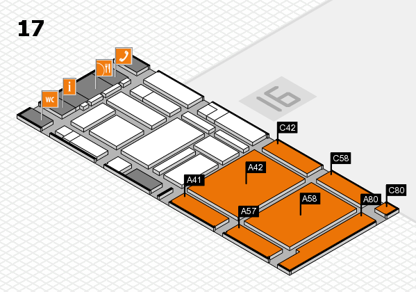boot 2017 hall map (Hall 17): stand A41, stand C80