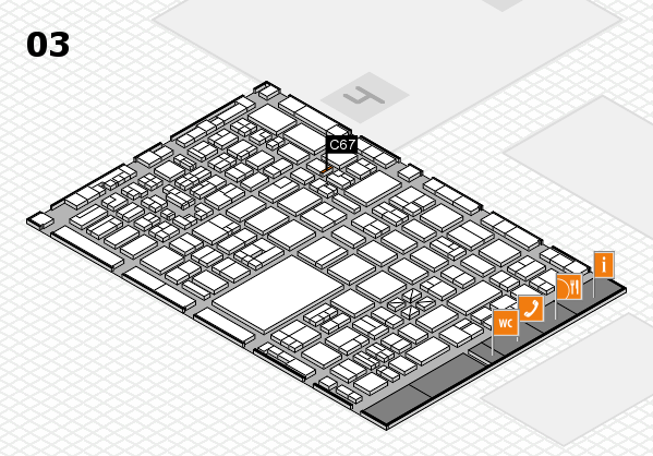 boot 2018 hall map (Hall 3): stand C67