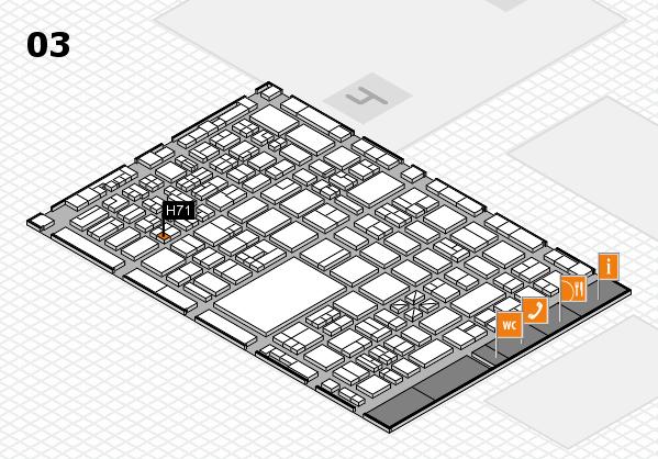 boot 2018 hall map (Hall 3): stand H71
