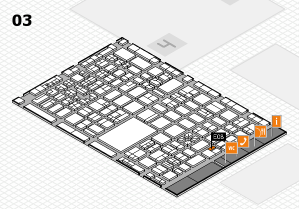 boot 2018 hall map (Hall 3): stand E08