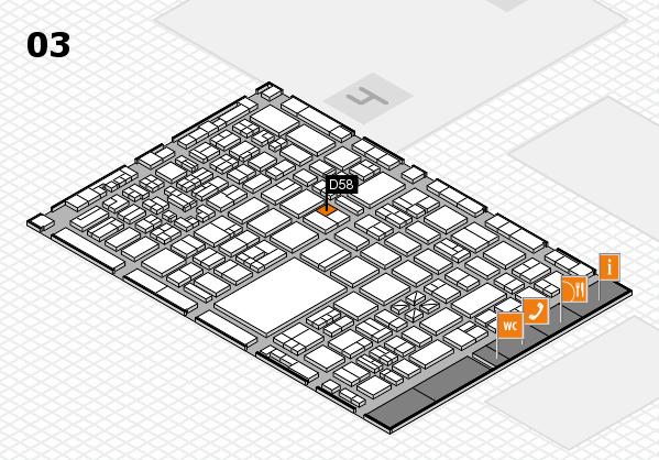 boot 2018 hall map (Hall 3): stand D58