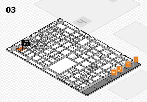 boot 2018 hall map (Hall 3): stand J87, stand J89