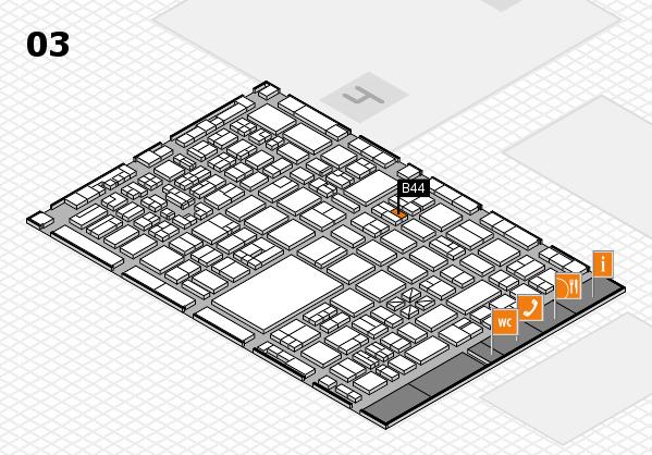 boot 2018 hall map (Hall 3): stand B44