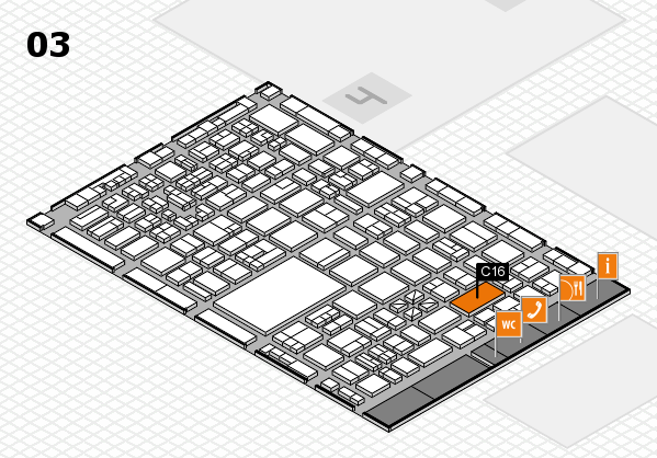 boot 2018 hall map (Hall 3): stand C16