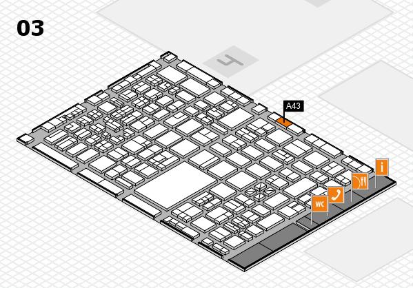 boot 2018 hall map (Hall 3): stand A43