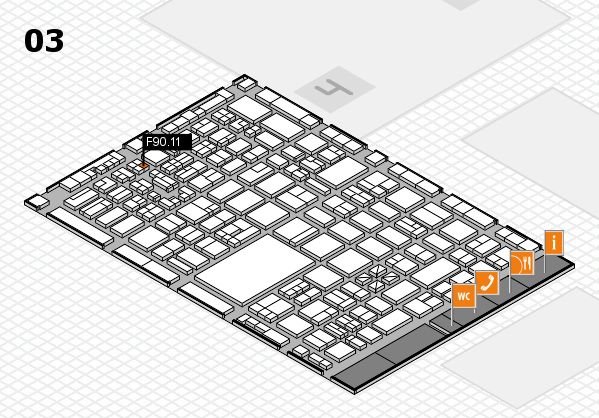 boot 2018 hall map (Hall 3): stand F90.11