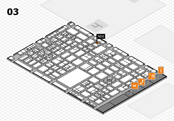 boot 2018 hall map (Hall 3): stand A64